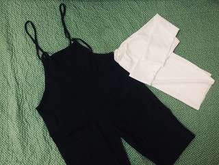 Black Jumpsuit FREE white inner