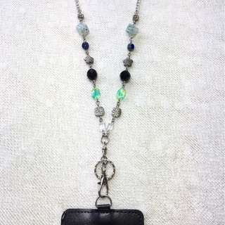 Beaded Lanyard Necklace (Glass Beads, Acrylic Beads, Charms)