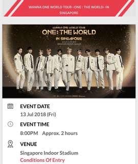 [RESERVED] WANNA ONE WORLD TOUR SINGAPORE