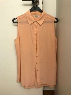 Grana silk sleeveless shirt