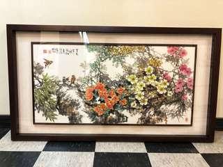 精品畫鳥國畫裱立體框(沁相藝術工坊畫框專賣店)