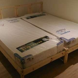 為Ikea床架訂做的床墊100*190