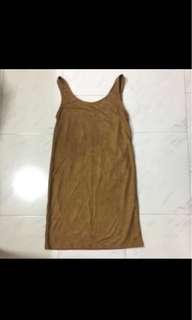 Brown Suede Tank Dress