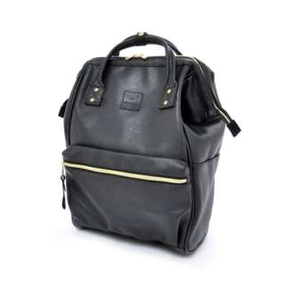 AT-B1211 Anello PU Regular Backpack - Black