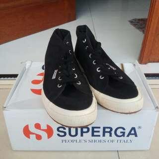 Superga (Bigsize 45) Mid 2754 Cottu like new! Satu kali pakai.