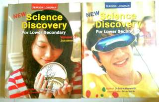 Pearson Longman New Science Discovery for Lower Secondary, Vol 1 & 2