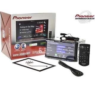 Pioneer AVH-X8850BT car play hdmi Dual USB