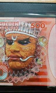 2016年 荷蘭東印度 500盾 塑膠商業紀念鈔 全新直版