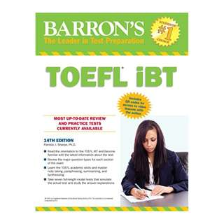 Barron's TOEFL iBT Test Of English as a Foreign Language,14th edition [Print Replica] Kindle Edition by Pamela Sharpe (Author)
