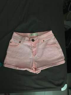 PINK COTTON ON DENIM SHORTS. celana pendek, summer shorts