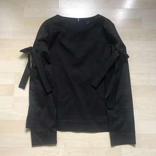 COS 蝴蝶結黑色上衣