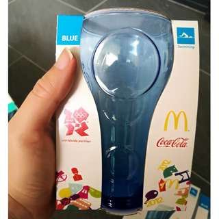 McDonalds Coca Cola Olympic 2012 Glass - Blue