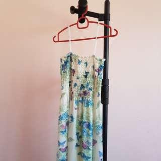 #20under Floral Chiffon Maxi Dress