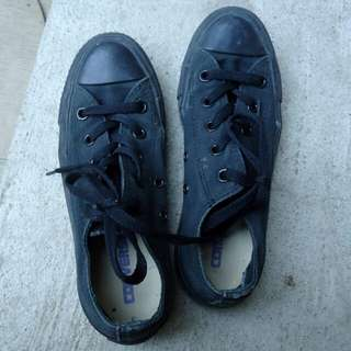 REPRICED Converse Authentic 100% black shoes