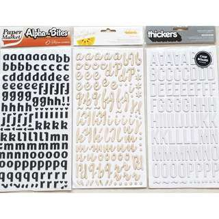 [CLEARANCE] Thickers alphabet stickers X3