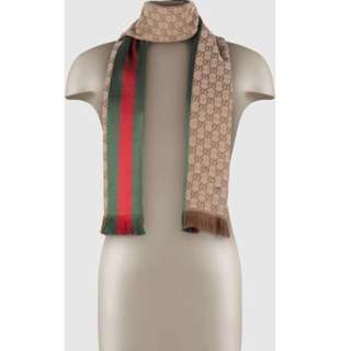 AUTHENTIC Gucci jacquard knit scarf