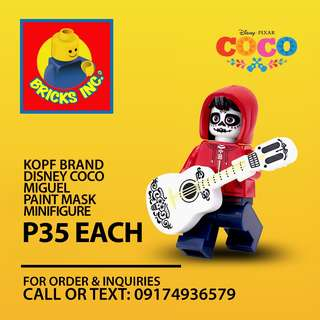 KOPF™ Disney CoCo Miguel Paint Mask Minifigures