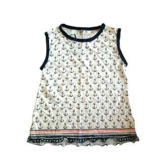 Girls Sleeveless Top/ Sweatshirt
