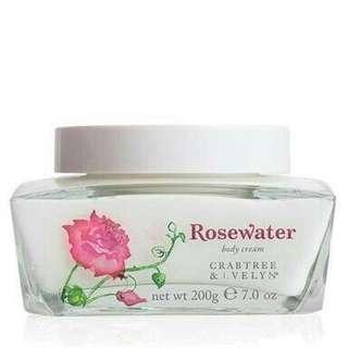 SALE Rosewater Body Cream