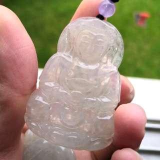 Grade A myanmar jade with cert 观音翡翠 冰种