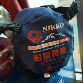 Nikko SL-500 露營睡袋 + Mountain Wolf IK-3 露營地墊