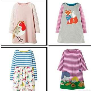 Long Sleeve Dress Girls Clothes 2017 Brand Winter Kids Dresses for Girls Animal Princess Dress Children Jersey