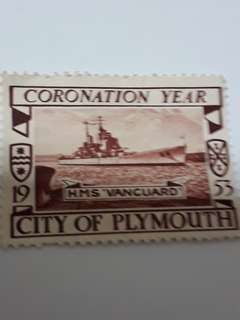 Year 1953 - City of Plymouth- HMS Vanguard