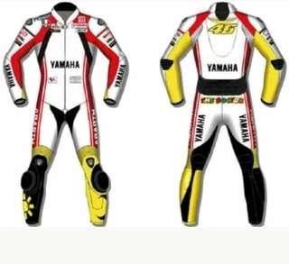 Custom made motorbike Leather Racing Suit