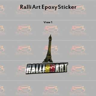 RalliArt Epoxy Sticker