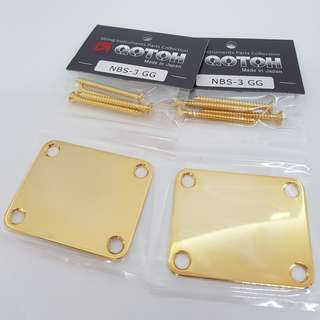 Gotoh Neck Joint Plate (NBS-3) - Gold