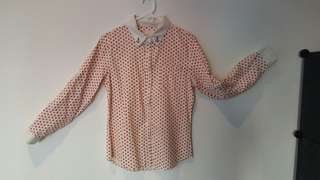 Blouse with cute anchor pattern