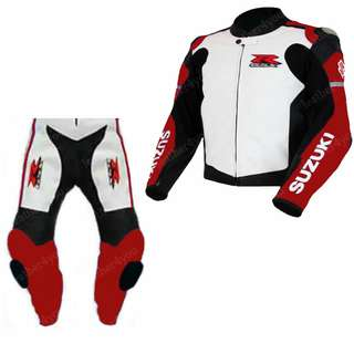 Two piece motorbike Leather Racing Suit