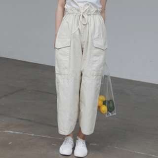 Casual Straight Cropped Wide Long Pants