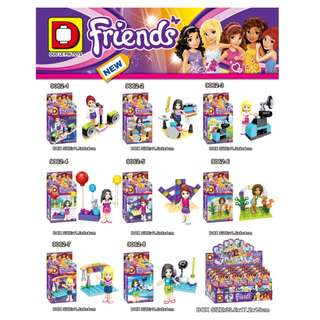 DLP™ 9062 Friends Party Minidolls 8in1 Minifigures Sets
