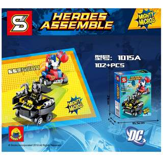 SY™ 1015A DC Mighty Micros Batman vs.Harley Quinn
