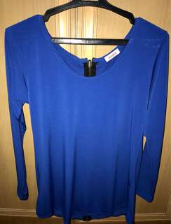 Blue Jellybean Fitted Top