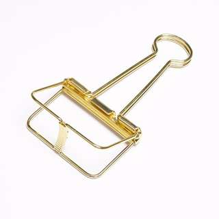 Paper Binder Clips Gold Colour