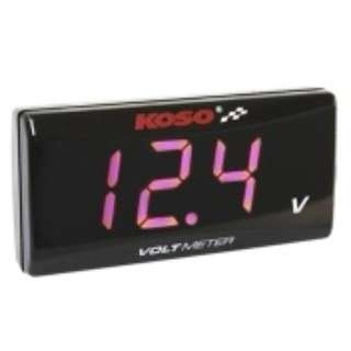 KOSO Red / Blue Voltmeter - Installation Inclusive