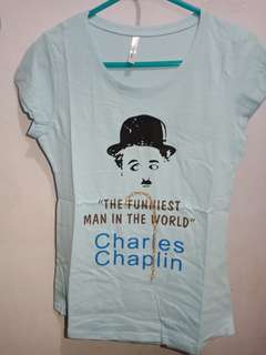 Charlie Chaplin Womens Tshirt! ♡ Korean Made