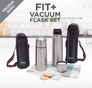 Botol Air Panas / Dingin - Fit + Vacuum Flask Set