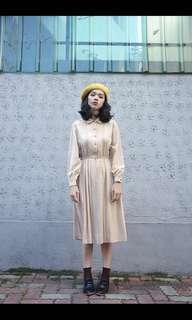島·shima 古著洋裝 緞面斜紋