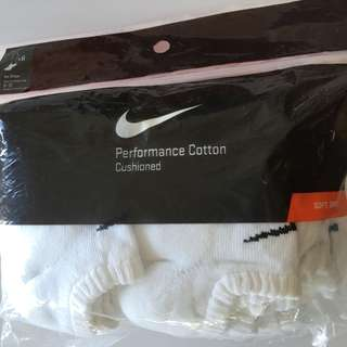Nike Performance Cotton No Show socks x 6 pairs Large