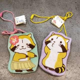 日本 小浣熊 2015 世界名作劇場 40週年 景品 非賣品 小包 吊飾 掛包 扣包 可愛 絕版 收藏