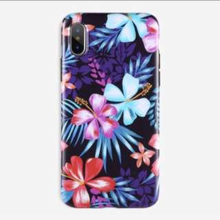 Tropical floral glossy imd case iPhone 5 5s se 6 6s plus 7 8