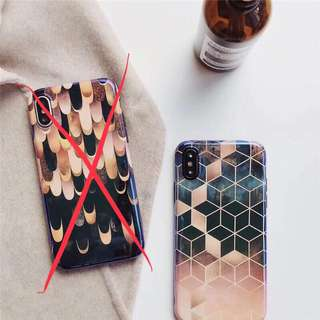 Hexagon style case for iPhone X