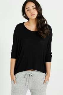 Cotton On long sleeve black top