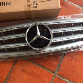 Mercedes Benz E Class W210 Style CL Grille Silver Grille