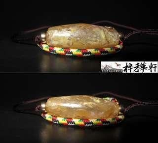 【唐瑪】藏傳千年大尺寸灰皮唐管勒子一枚