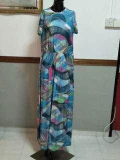 Abstract Long Dress