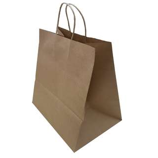 Quality Kraft Brown Paper Bags 29x28x20 cm in 10 pieces pack for home bakery, Food & Drinks, Baked Goods